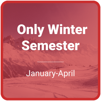 only winter semester (January-April)